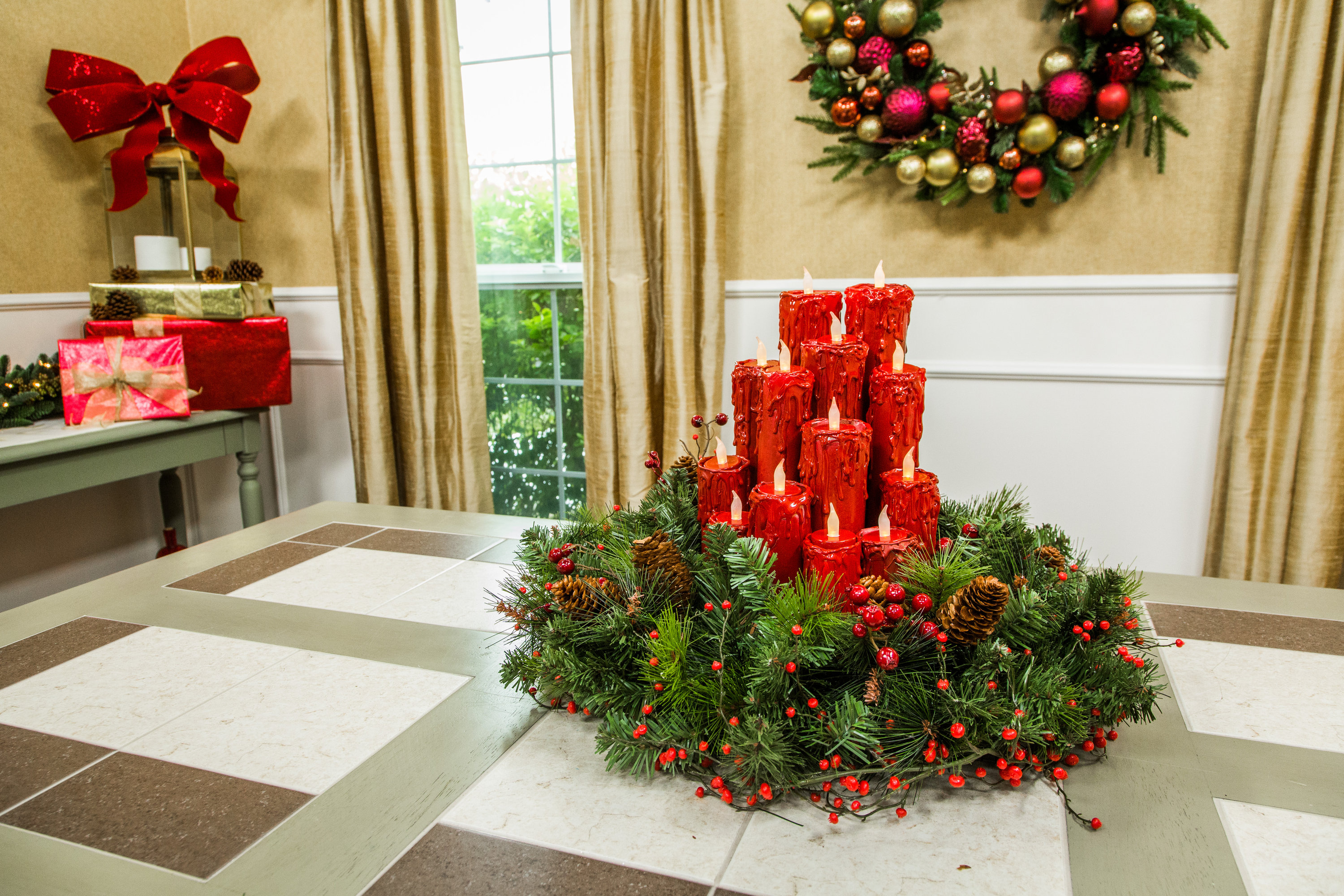 How To DIY Christmas Candle Centerpiece Hallmark Channel