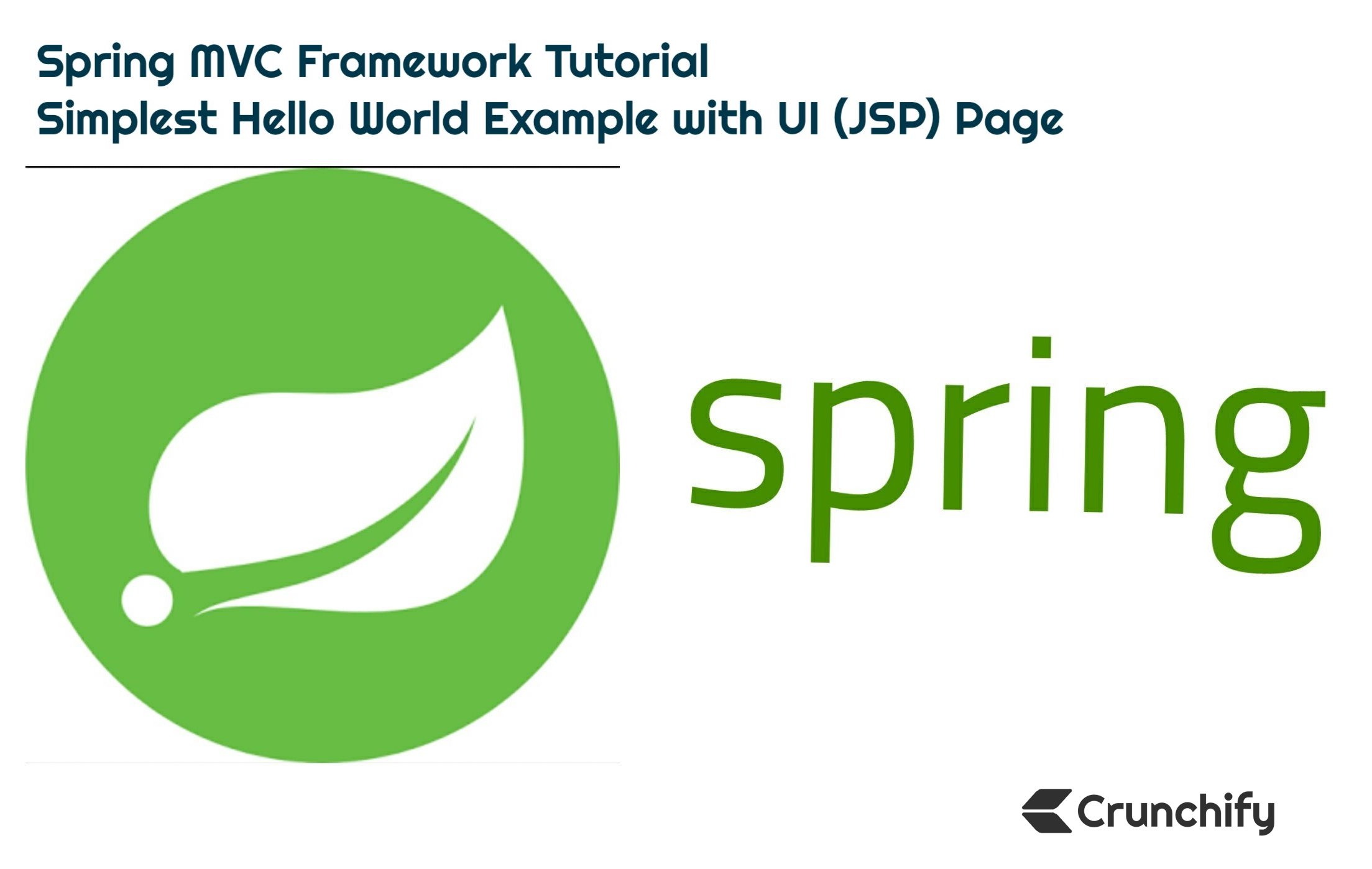 Spring Mvc Framework Tutorial Simplest Hello World Example