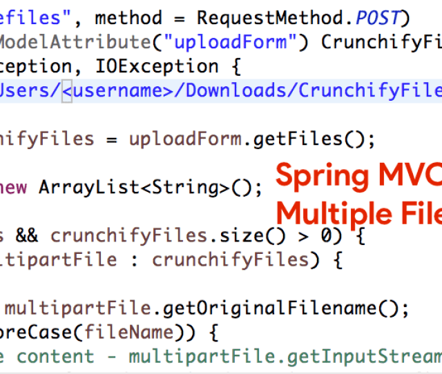 This Is Another Complete Spring Mvc Tutorial Which Accepts File On Upload Form And Copy It To Specific Folder On Submit Event