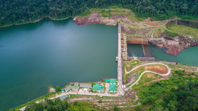 Nam Theun 2 Hydroelectric Project in Laos.