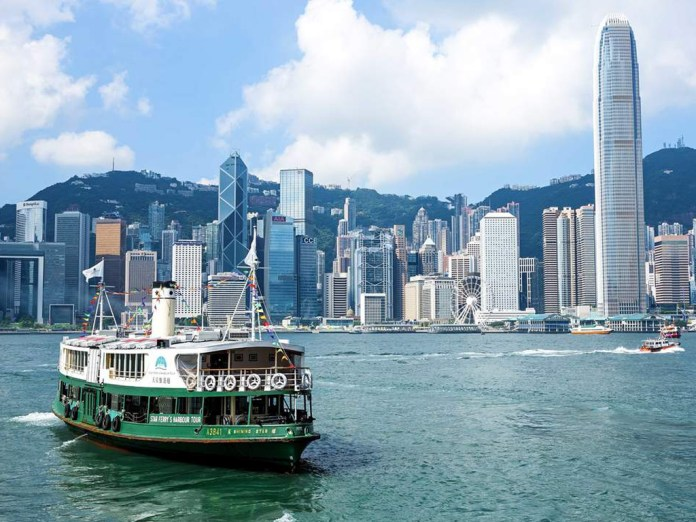 Hong Kong's famous Star Ferry departing the Victoria Harbor, much the same way that some of the city's most promising cryptocurrency companies have left for greener crypto pastures.