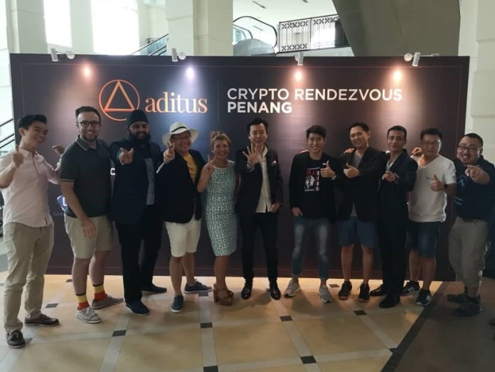 Some of the panel of speakers at the inaugural Crypto Rendezvous Penang 2018.