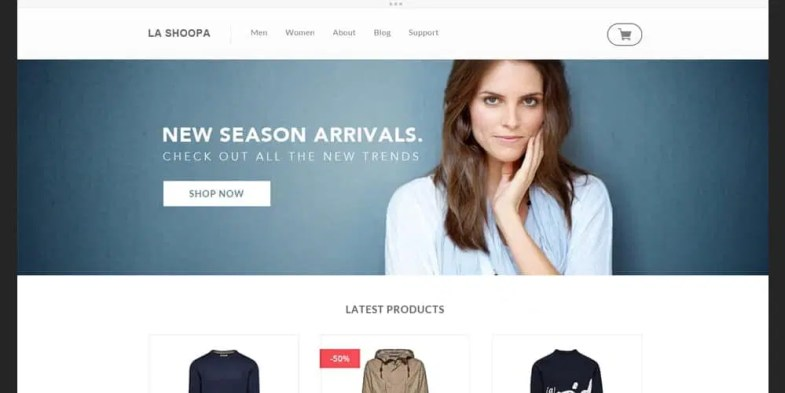 E commerce Photoshop Web Templates Free PSD