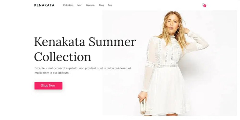Fashion eCommerce Web Template PSD