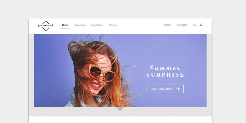 Free E-Commerce Web Template PSD