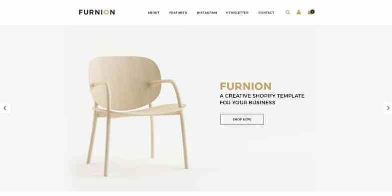 Furnion Furniture Ecommerce Template PSD