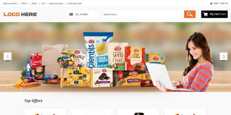 Online Grocery Store Template PSD Бесплатные шаблоны для интернет-магазина psd - Online Grocery Store Template PSD - Бесплатные шаблоны для интернет-магазина PSD