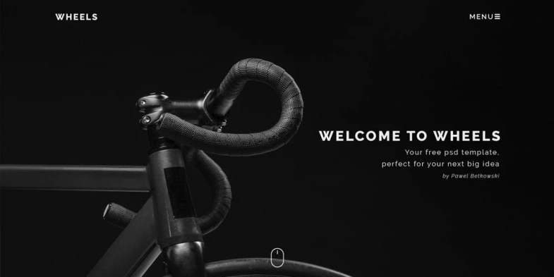 Wheelz eCommerce Template PSD