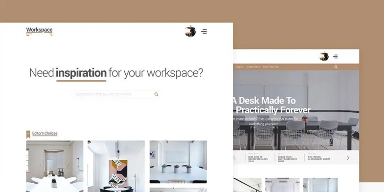 Workspace Free E-commerce Web Template Kit