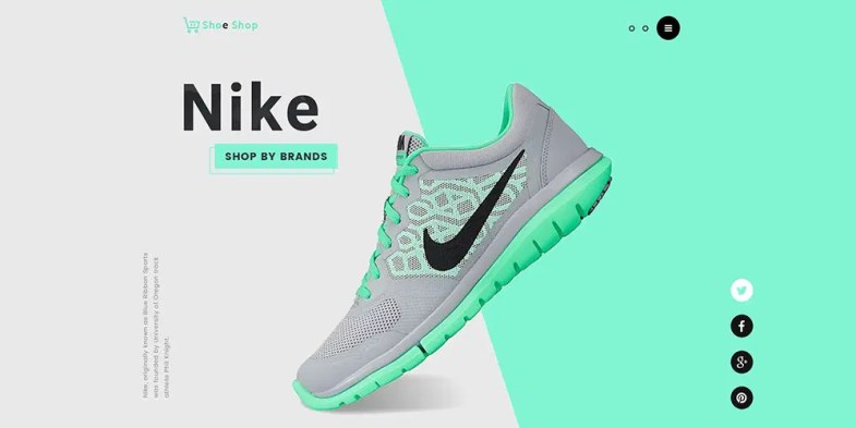 eCommerce Website Template PSD