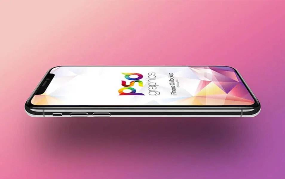 Apple iPhone X Mockup PSD