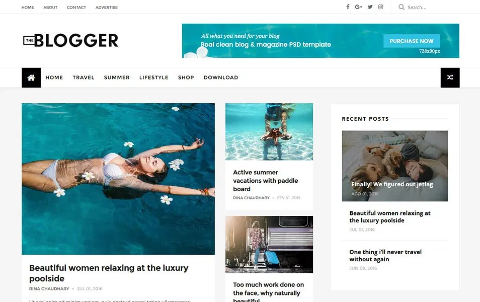 Surogou view this free template ». 300 Best Free Responsive Blogger Templates 2019 Css Author