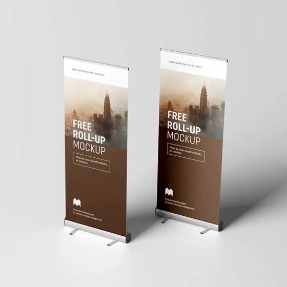 Nowadays, more companies are prone to use this outdoor branding. 20 Best Free Roll Up Mockup Templates Css Author