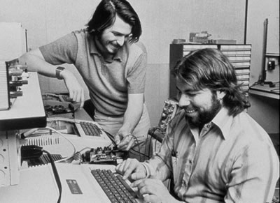 Woz and Jobs in their early days at Apple. Today, they'd have been looking at job rejection letters.