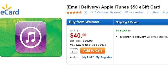 Free Money Walmart Is Selling 50 ITunes Gift Cards For