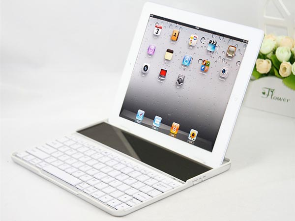 Solar Powered Bluetooth Keyboard Case For iPad