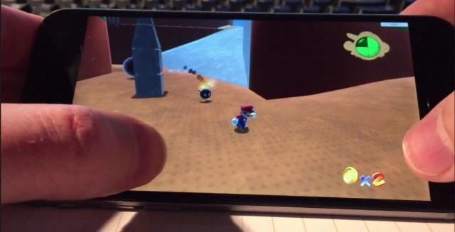 The first 3-D Mario running on an iPhone 6. Screenshot: Cult of Mac