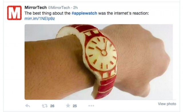 We won't give Apple Watch the time of day, says Twittersphere