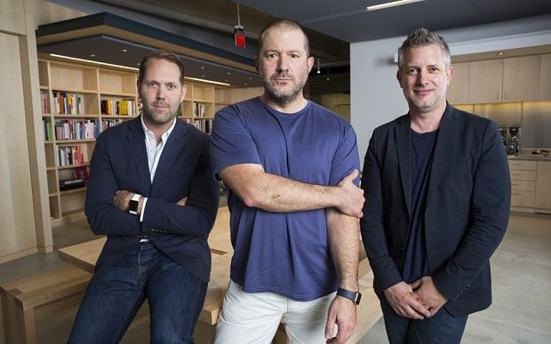 Alan Dye, Jony Ive, and Richard Howarth.