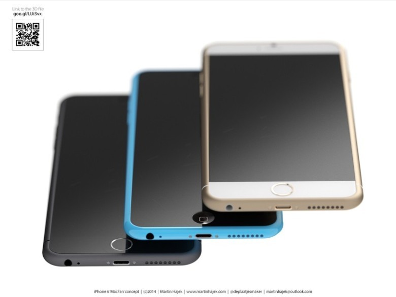 A concept rendering of the iPhone 6c.