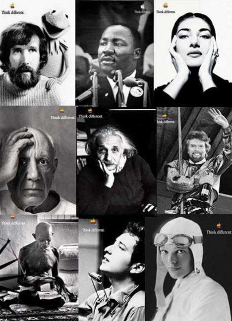 Некоторые из оригинальных постеров Apple Think Different