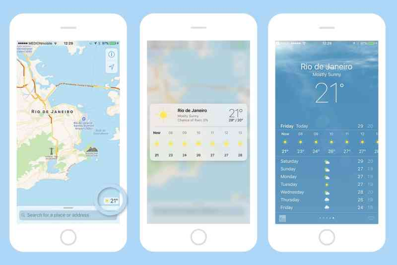 Quickly check the weather anywhere in the world.