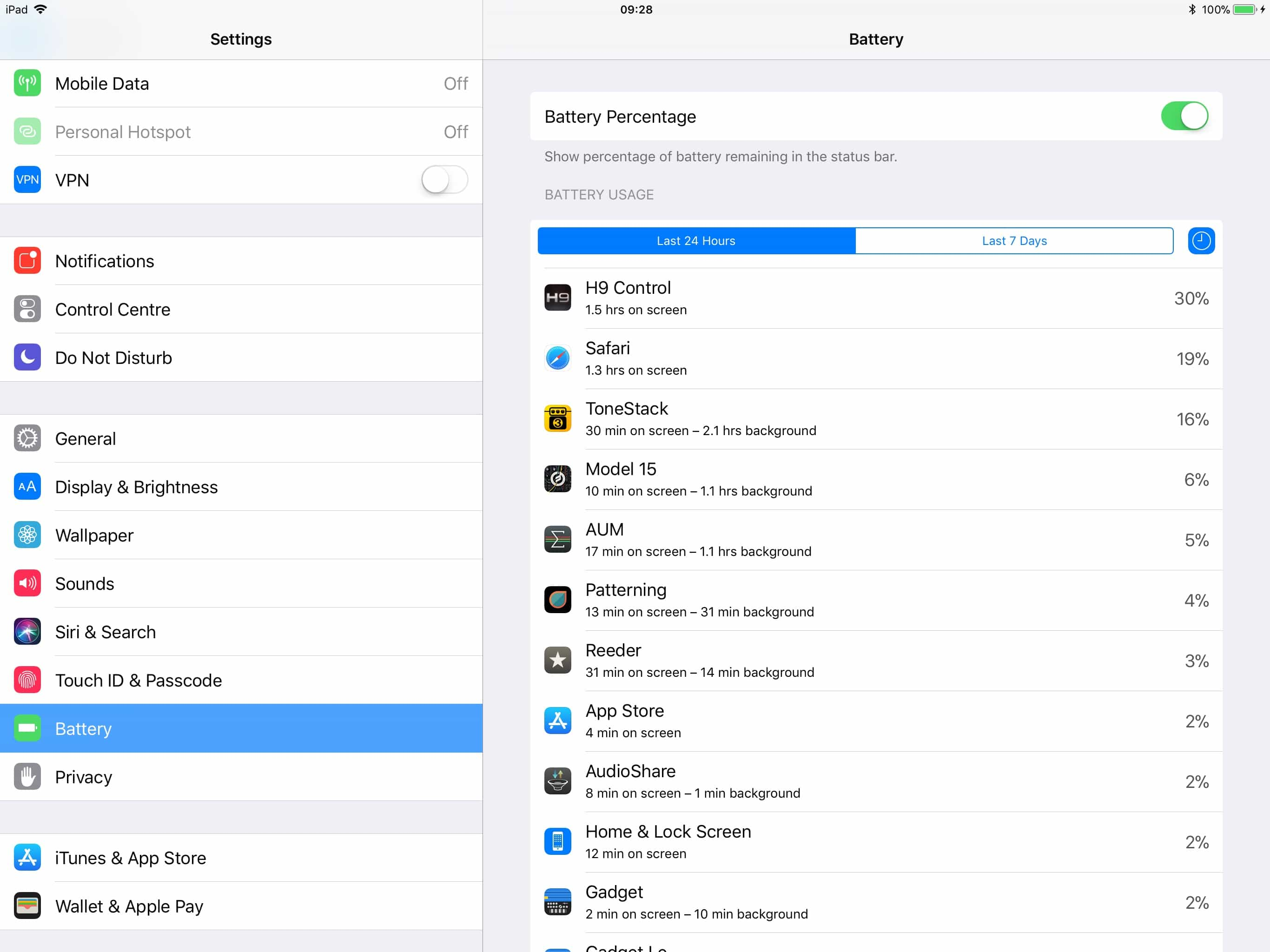 This is the iOS 11 battery settings