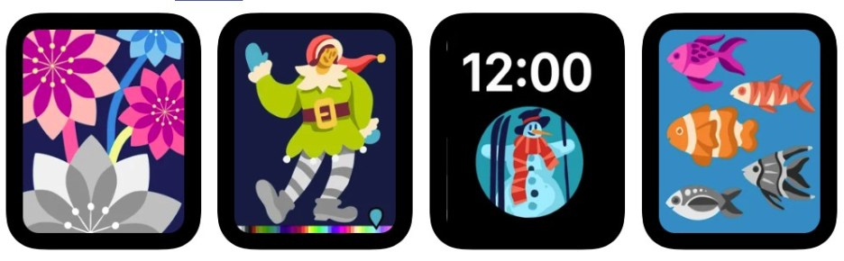 Coloring Watch app for Apple Watch