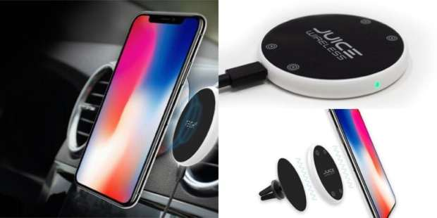 This sleek wireless charger sports anti-stick surface, so it's as solid in your car as on your desk.