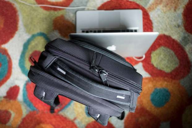We recommend this Thule Crossover 2 backpack. That expensive iPad knob? Not so much.
