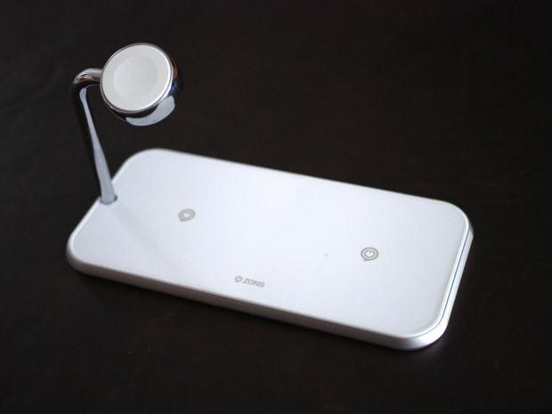 Zens Dual + Watch wireless charging mat in white