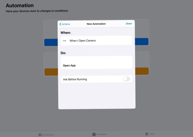 Shortcuts lets you launch one app in place of another.