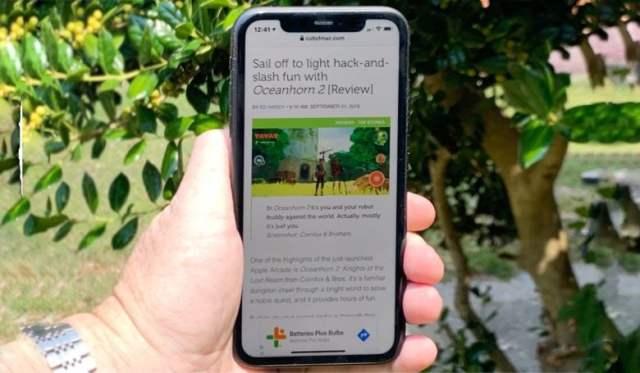 iPhone 11 in direct sunlight