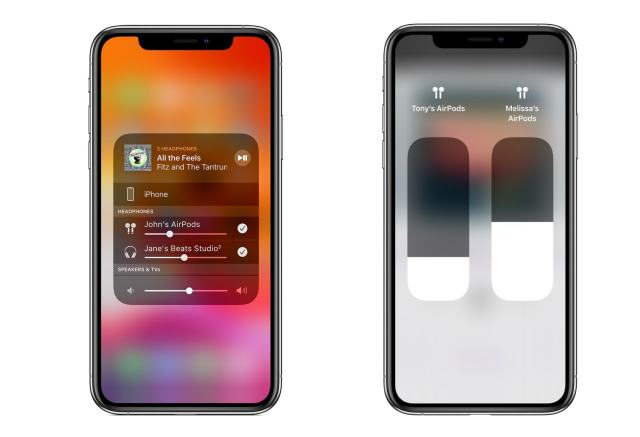 When sharing AirPods audio, you can control your levels separately.