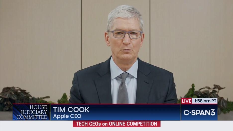 Tim Cook testifying