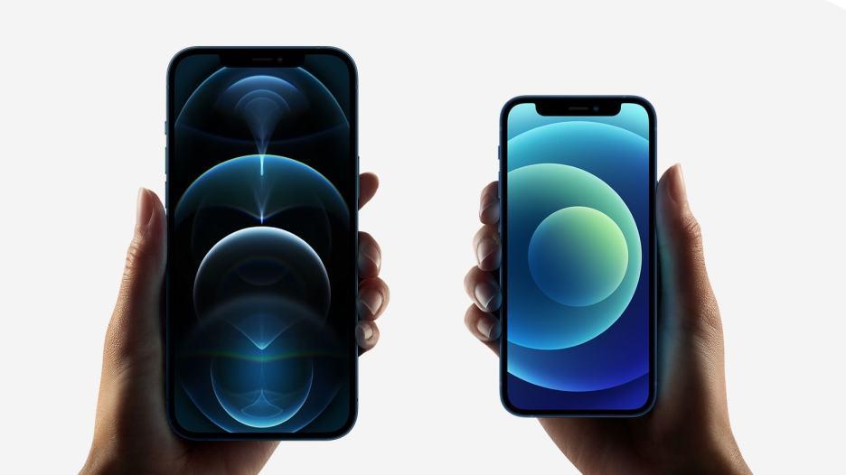 iPhone 12 Pro Max and iPhone 12 mini.