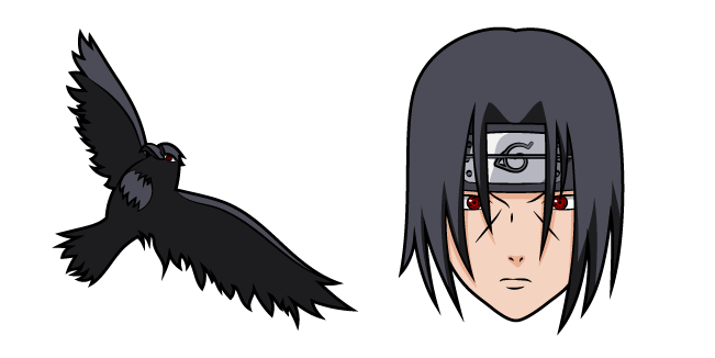 Gamers Discussion Hub naruto-itachi-uchiha-and-crow-cursor-pack Top 35 Best Custom Cursor Windows 10 (2021)