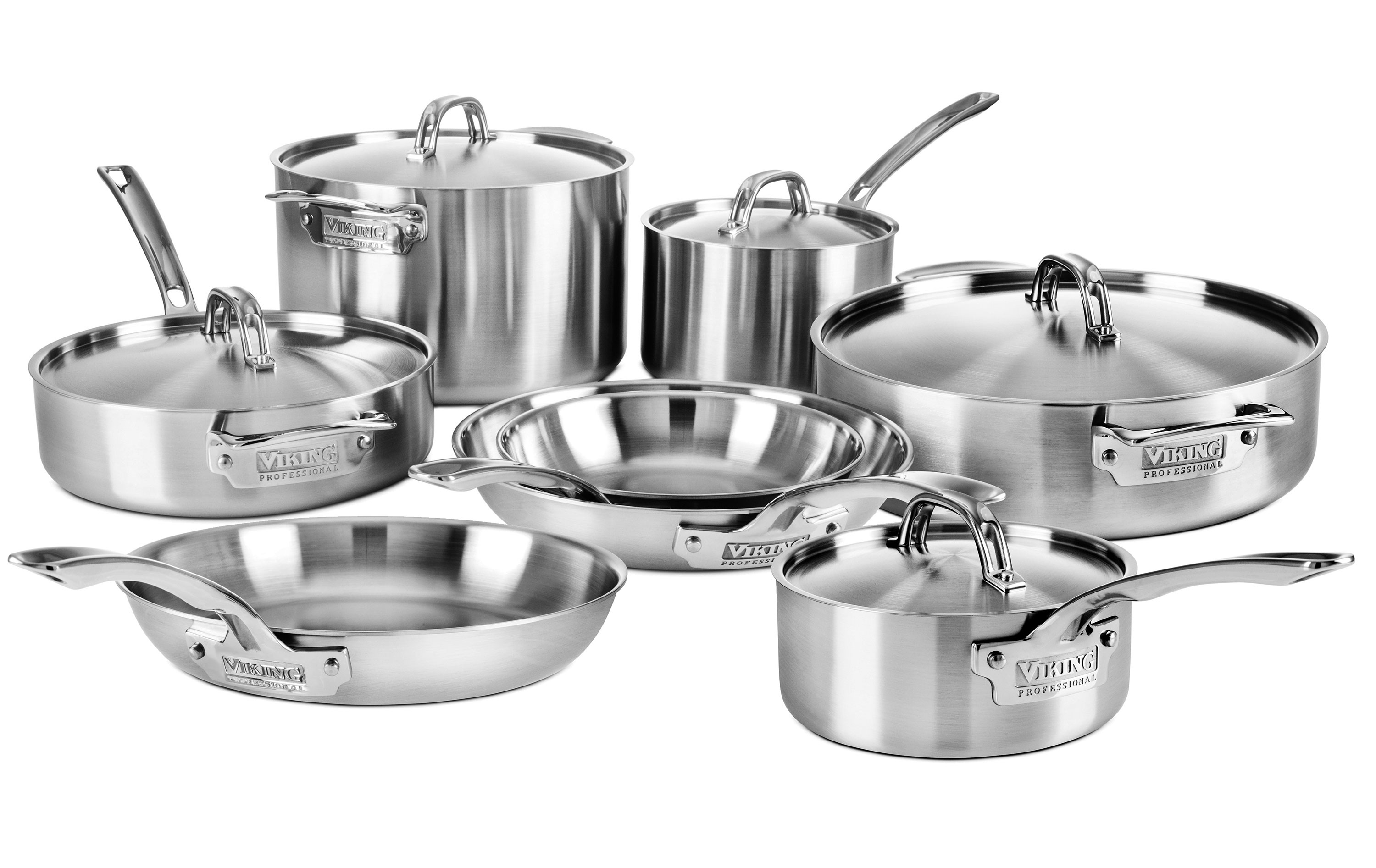 Viking Cookware Set 5 Ply Pro Stainless Steel 13 Piece Cutlery And More