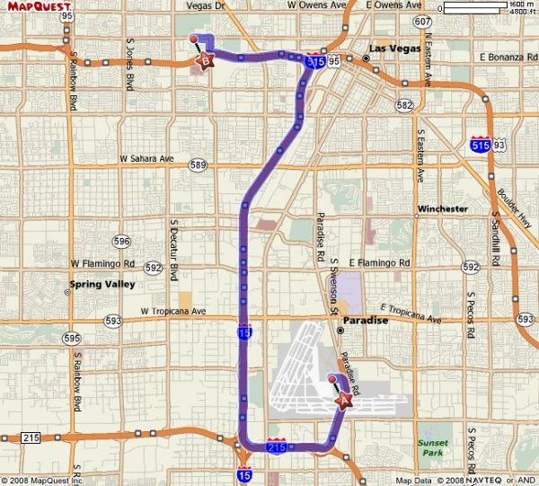 Mapquest Vegas Strip