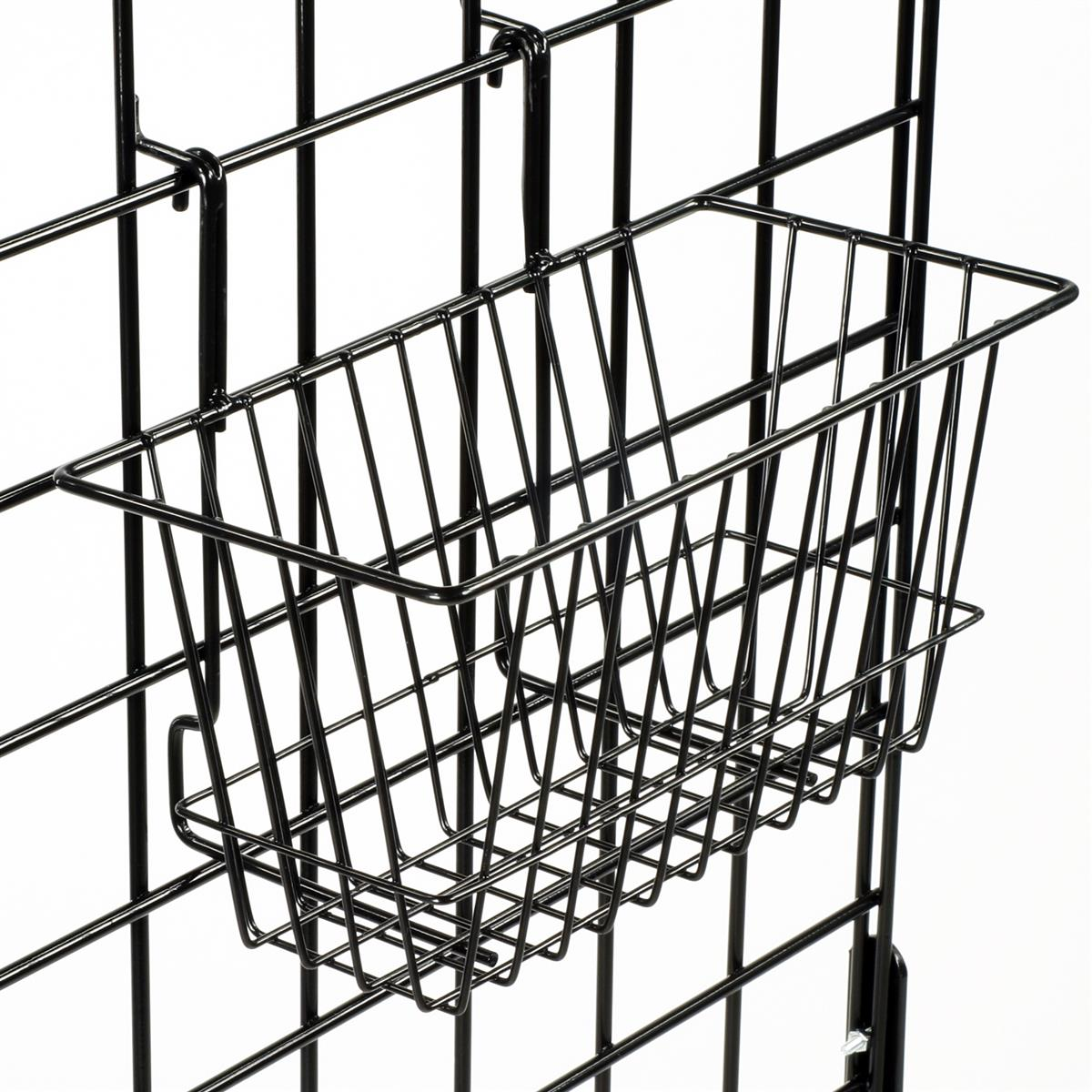 This Gridwall Basket Can Hold Bulk Items Easy Attach Hooks Connect Securely To Slatwall Or Grid