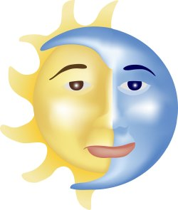 Sun and Moon clip art