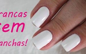2 Dicas para passar o esmalte branco sem manchar! Dica perfeita para o Ano Novo!!!