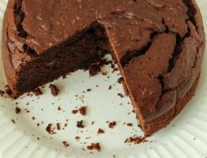 Bolo de chocolate com batata-doce
