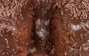 Bolo vulcao de chocolate da Lenna
