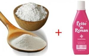 Clareando manchas com ; leite de rosas e bicarbonato de sódio