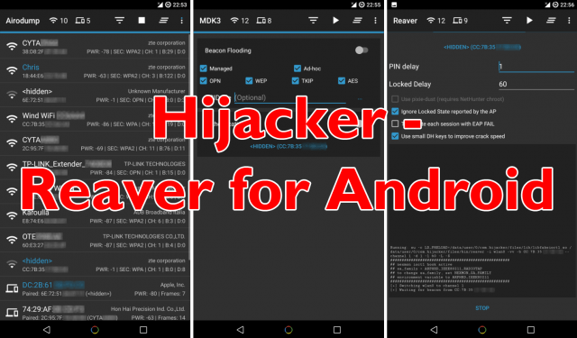 You can download Hijacker Reaver for Android Wifi Hacker App here