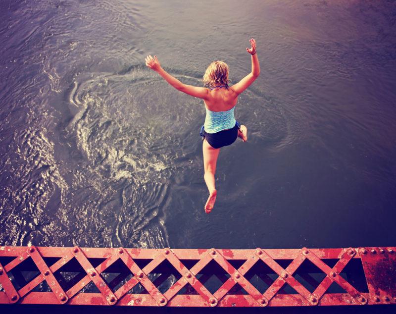 jumping off bridge