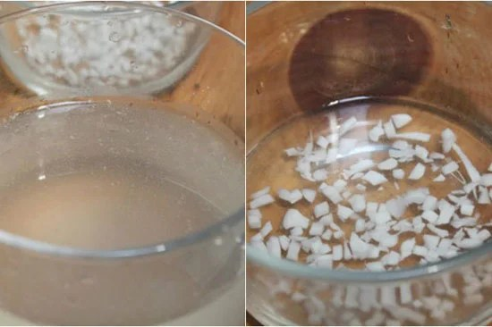 soak coconut jelly with water