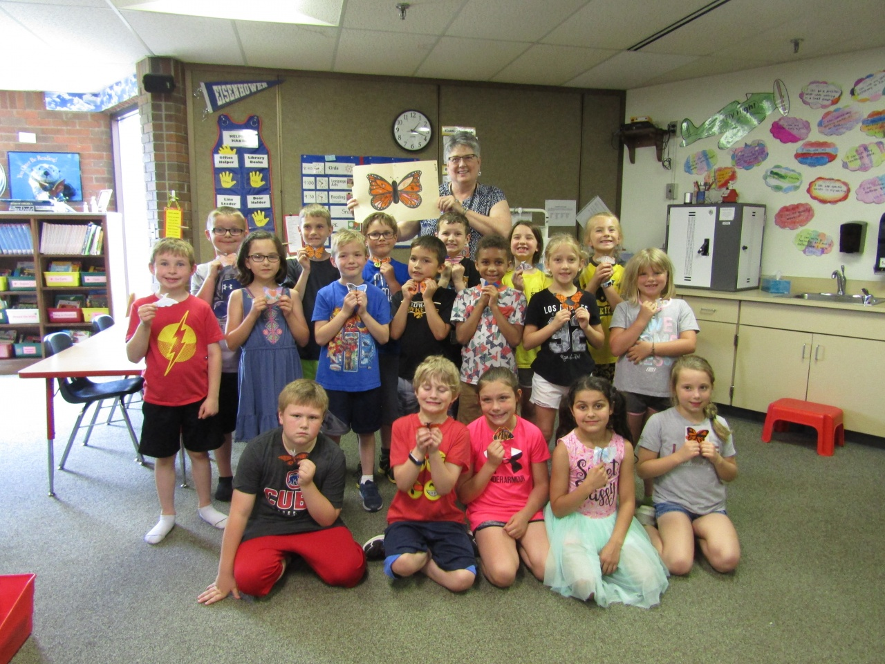 2nd Graders Send Monarchs On Their Great Migration