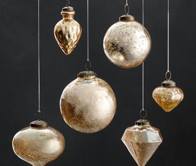 View In Gallery Vintage Hand Blown Glass Ornaments